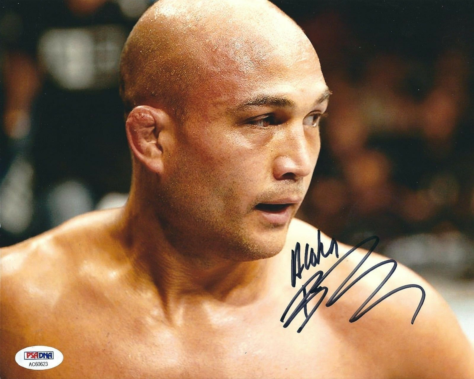 B.J. Penn Signed UFC 8x10 Photo *UFC Welterweight Championship PSA AC60623