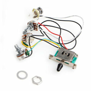 5 way switch 250k pots knobs wiring harness pickup for stratimage is loading 5 way switch 250k pots knobs wiring harness