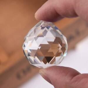 30mm Hanging Crystal Ball Cut Glass Prism Sphere DIY ...