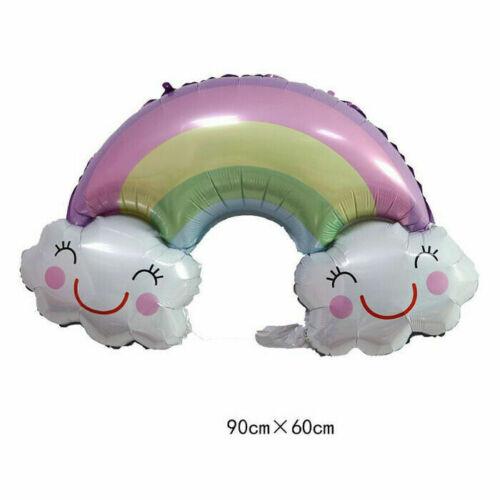 Animal Foil Balloons Kids Decor Safari Jungle Birthday Party Rainbow Food Car