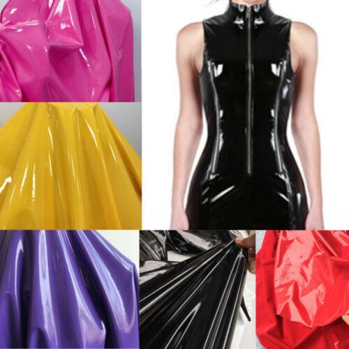 Shiny Glossy PVC Leather Fabric Soft Stretch Mirror Vinyl PU Costume Dressmaking