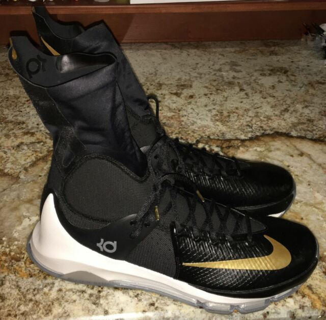 bcf308e4df8f6d NIKE KD 8 VIII Elite Black Gold Basketball Shoes Sneakers Mens Sz 9.5 10.5  11 16