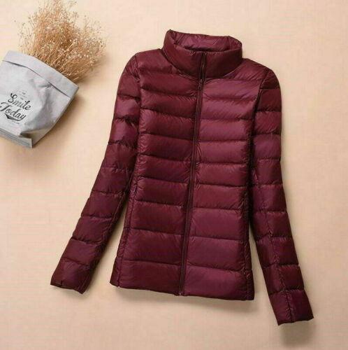 Packable Women/'s Lightweight 90/% White Duck Down Jacket X-Large Coat Puffer Tops