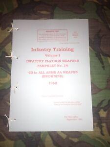 BRITISH-ARMY-BROWNING-50-Cal-50-HEAVY-MACHINE-GUN-PAMPHLET-MANUAL-FALKLANDS