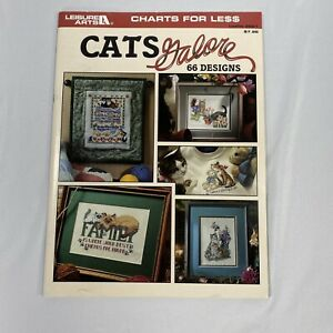 Leisure Arts 2821 CATS GALORE 66 Counted Cross Stitch Patterns Charts Book