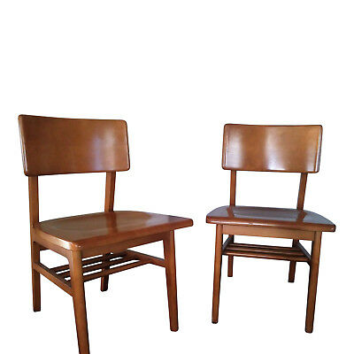 Terrific Gunlock Vintage Pair Of Mid Century Modern Desk Armchairs Danish Style Ebay Ocoug Best Dining Table And Chair Ideas Images Ocougorg