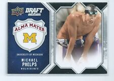 Michael Phelps 2009 2010 Michigan Alma Mater USA Olympic Swimming Card #am-mp