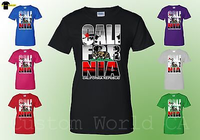 California Republic Women T Shirt - Cali Republic Tee - California Bear Shirt