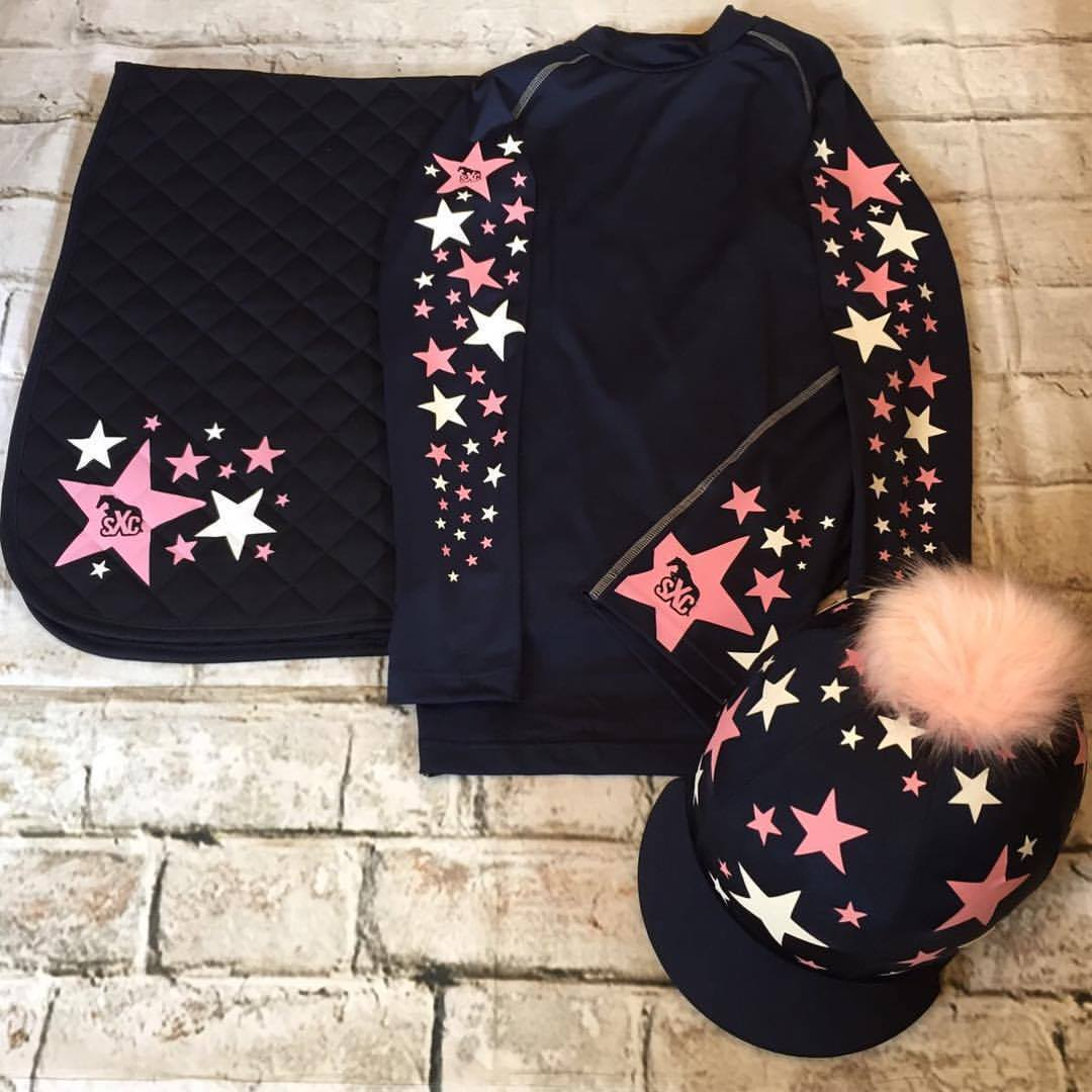 SXC Starburst Cross Country Colour XC Eventing Hat Silk Cover Saddle Cloth