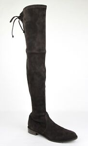 d8c2b2e1b9  835 New Stuart Weitzman Brown Cola Suede Lowland Over-The-Knee Boot ...