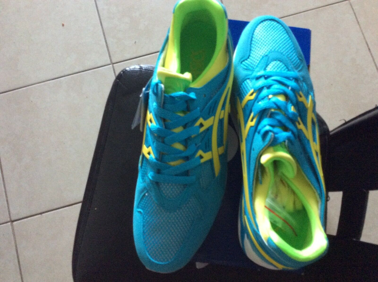 ASICS Gel-Kayan trainer brand new with box and extra laces bluee and yellow