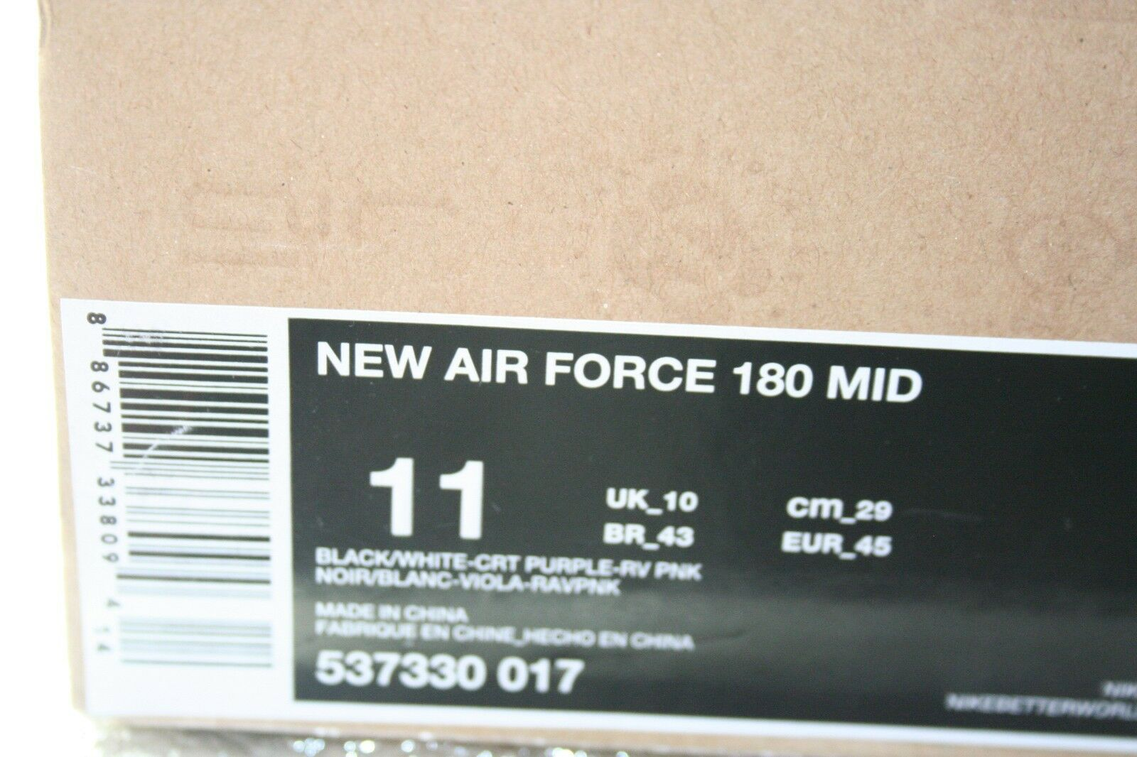 Nike Air Force 180 DS Size 11 Phoenix Suns Charles Barkley Clemson Tigers