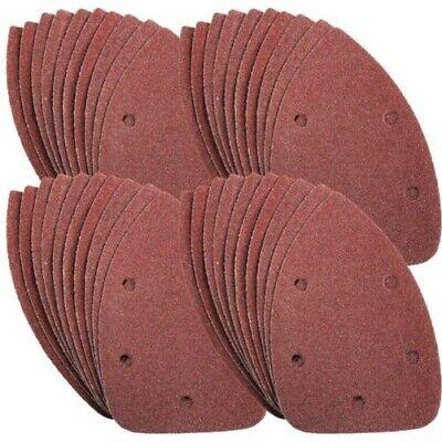 10 fogli di carta abrasiva a 6 fori per levigatrice palma Black and Decker cod 1 grana 60//80 60#