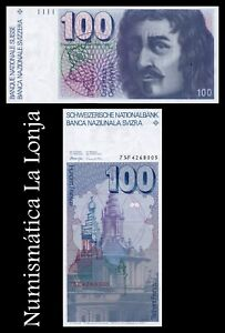 B-D-M-Suiza-Switzerland-100-Francs-1975-Pick-57a-SC-aUNC