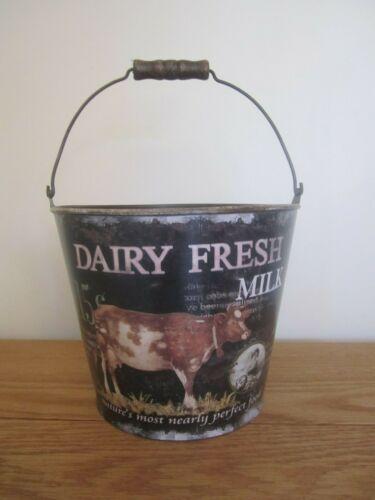 Details about  /Primitive Dairy Fresh Milk Pail