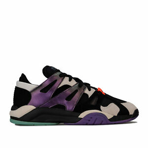 Hommes-Adidas-Originals-dimension-Low-Top-Trainers-in-Core-noir-ecru