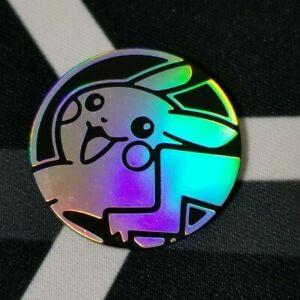 "OtBG Eevee Silver Glitter /""Pikachu/"" Let/'s Go Play Pokemon Coin TCG Official"