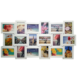 LARGE 18 MULTI PHOTO FRAME LOVE FAMILY FRIENDS COLLAGE HOME WALL PICTURE ALBUM