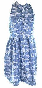 Stella-McCartney-Shirt-Dress-Blue-Camouflage-UK-8-IT-38-Womens-Ladies-RRP-475