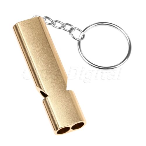 New Survival Aluminum Whistles And Keyring Extra Loud Call For Help Outdoor