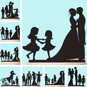 Anniversario Matrimonio Con Bambini.Famiglia Cake Topper Con Bambini Kids Occhiali Personalizzata