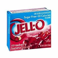 Jell-o Strawberry Banana Sugar Free Instant Jello Gelatin Mix