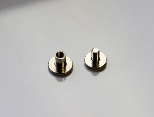 10 Qualitäts Gürtelschraube n Buchschraube für Materialdicke 8 mm Schraubniete