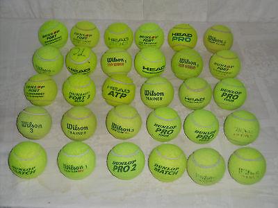 30 Gebrauchte TennisbÄlle Von Verschiedenen Marken Im Firmenmix