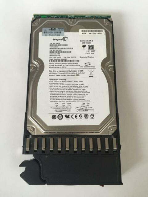 480941-001 HP 750GB 7.2K 3G LFF SATA 3.5'' DP HDD HARD DRIVE FOR MSA2