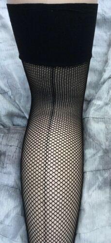 ladies pair of black  fishnet stockings with seam NEW