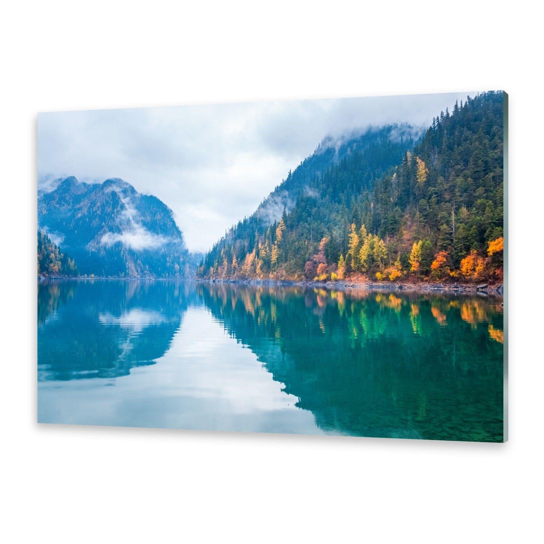 Acrylglasbilder Wandbild aus Plexiglas® Bild See im Herbst