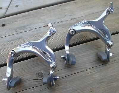 Brake Caliper Road Set Dual Pivot SV Tektro 810C 61-78mm Nutted Mount Silver