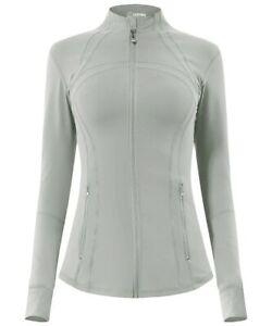 Queenieke Women's Zip Up Athletic Sports Define Jacket Slim Fit Size Small