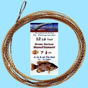 Wonderfurl-Brown-Recluse-Precision-Tapered-Furled-Fly-Fishing-Leader