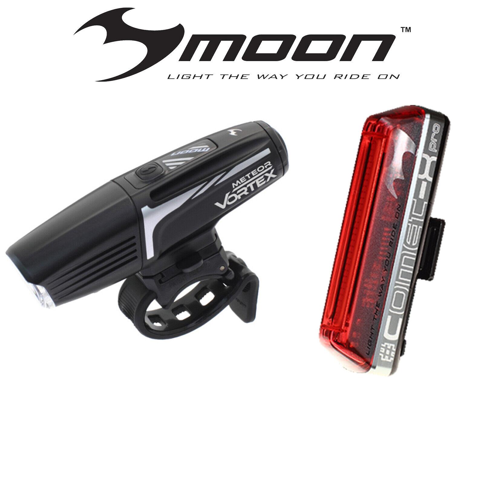 MOON VORTEX 600 davanti & COMET  X PRO REAR LIGHT SET gratuito EXPRESS POSTAGE