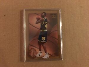 Chris-Webber-1993-94-Classic-4-Sport-Rookie-Acetate-Insert-Card-Michigan-Fab-5