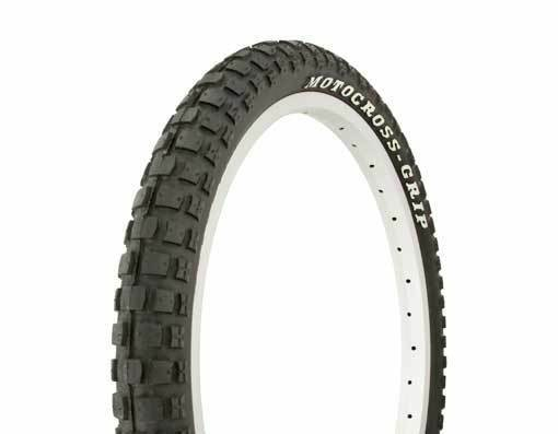 2 TWO DURO BMX BICYCLE TIRES 20x2.125 MOTOCROSS-GRIP BLOCK WHITE LETTER