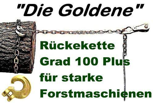 Forstkette 2,5m schlinghaken carga de rotura aguja oro plata chokerkette 8mm 12t
