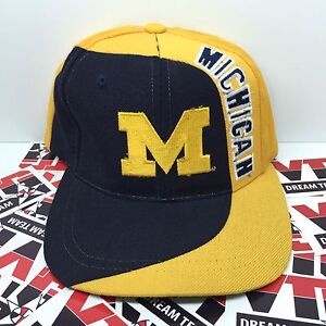 52e7182e05e Details about Vintage NWOT 90 s Michigan Wolverines American Needle Snapback  Hat Blockhead