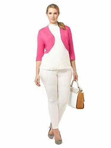 Fuschia Cropped Cardigan Pink Sweater JH2W6717 Size 2X