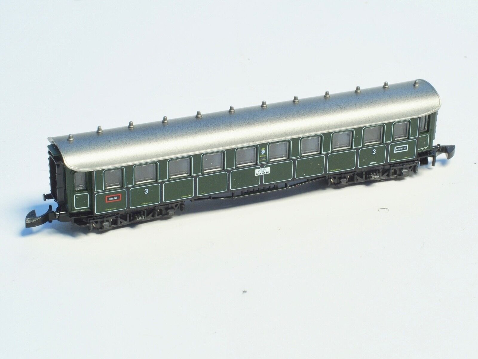 Marklin Z-Scale 3rd Class Bavarian Passenger Car Old era