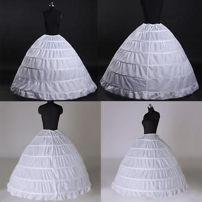 e27aa1e17a921 3 or 6 Hoop Crinoline Wedding Ball Gown Bridal Dress Petticoat Skirt ...