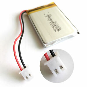 3-7V-1200mAh-JST-Connector-Lipo-Polymer-Battery-For-Cell-phone-Camera-PAD-603450