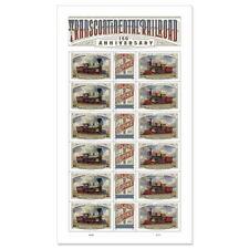 USPS New Transcontinental Railroad Pane of 18