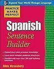 Practice Makes Perfect Spanish Sentence Builder von Gilda Nissenberg (2009, Taschenbuch)