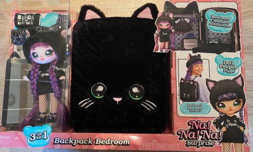 Surprise 3 in 1 Rucksack +Schlafzimmer +Puppe schwarz NEU//OVP Na Na Na