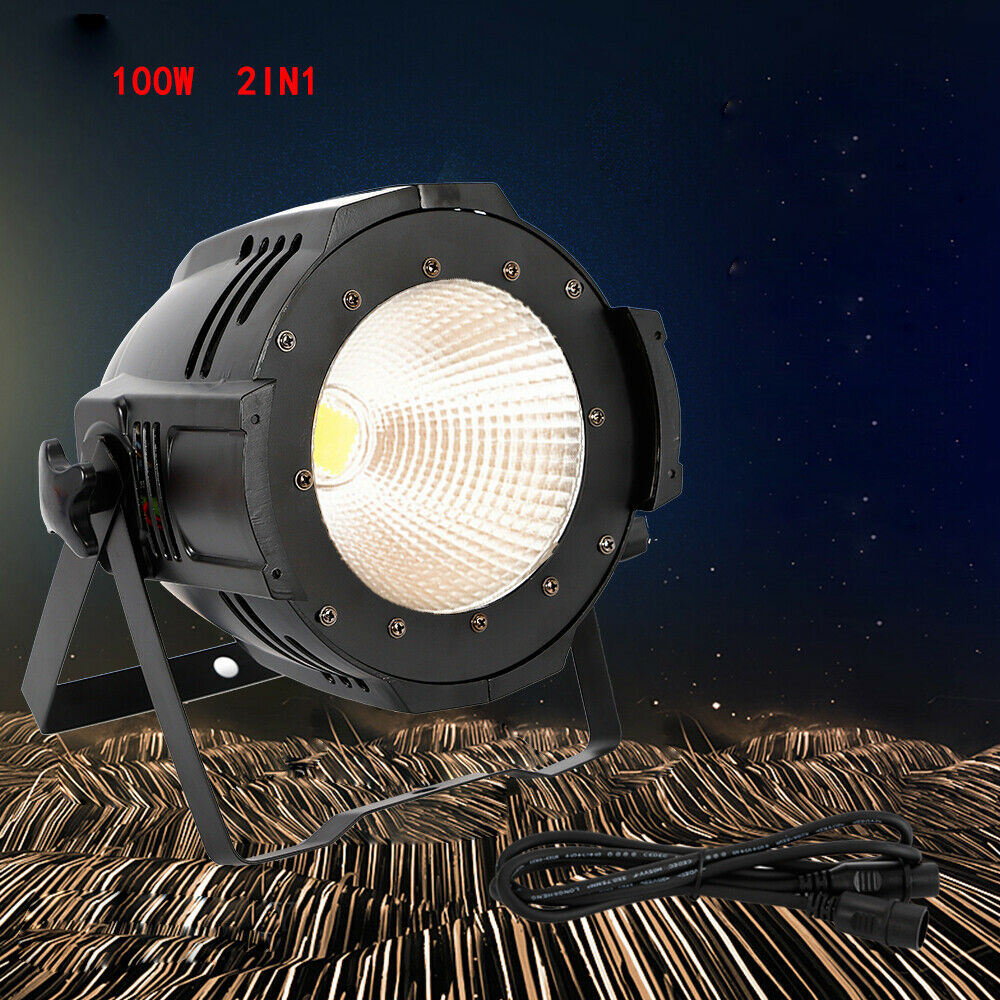 100W Warm Cool Weiß COB Led Par Light für DJ Club Stage Audience Lighting 2 IN1