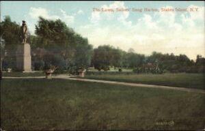 Snug-Harbor-Staten-Island-NY-The-Lawn-c1910-Postcard