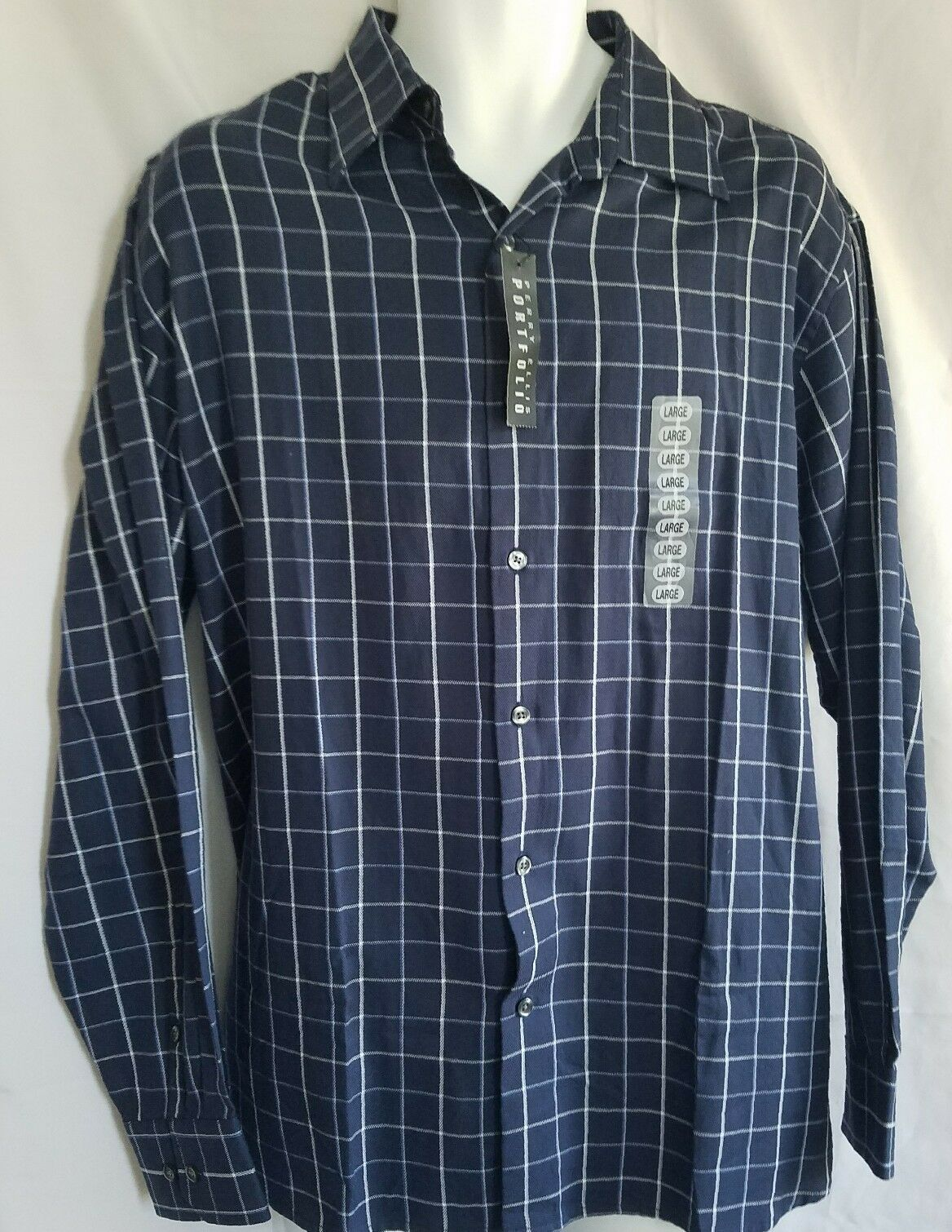 b7ce437c082 NWT Perry Portfolio Night Sky Mens Dress Sz Large Tag Shirt Ellis ...