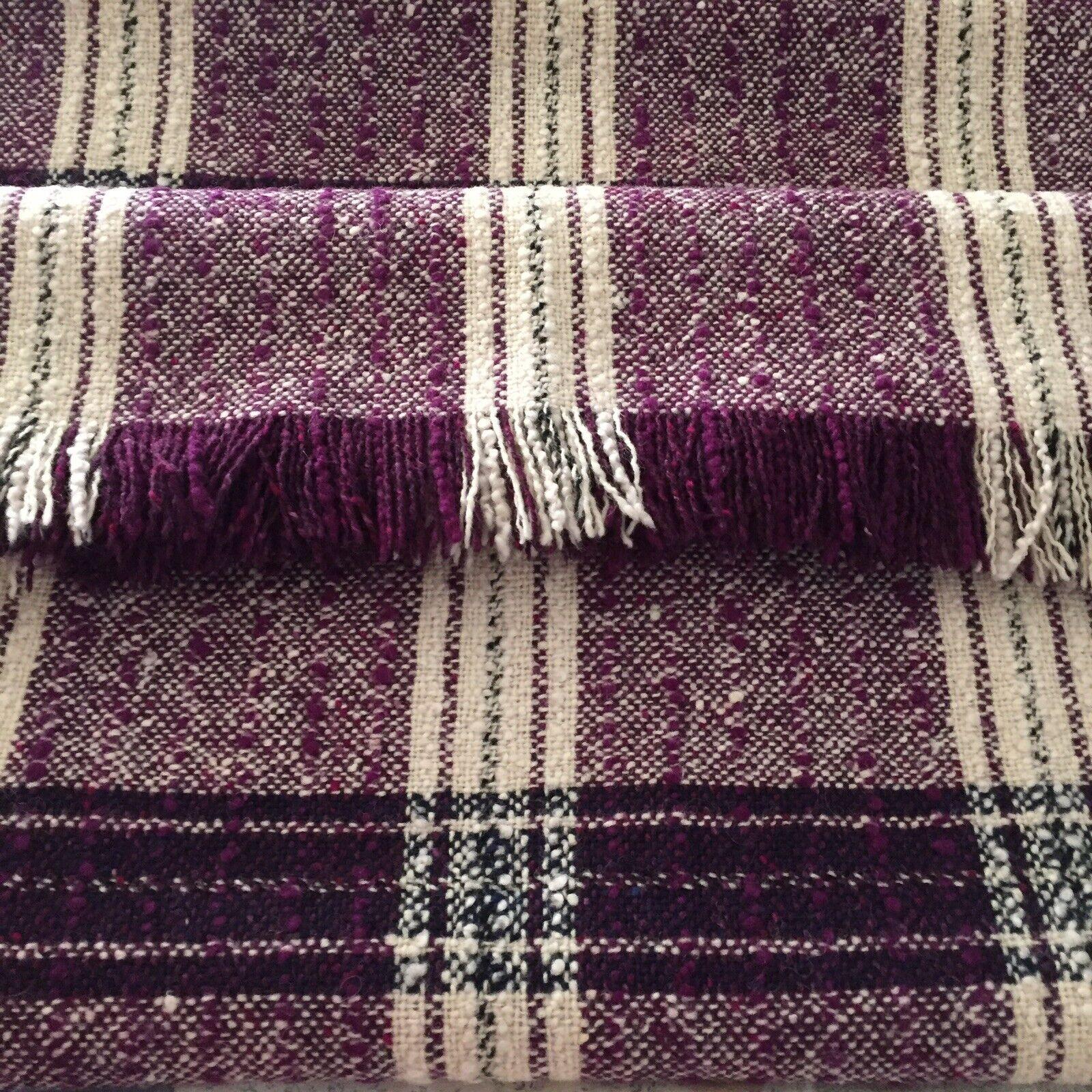 "Donegal Tweed Blanket Throw Ireland Handwoven 100% Wool  62"" x70"""